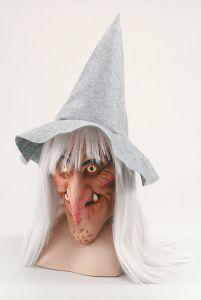 Маска ведьмы в серой шляпе