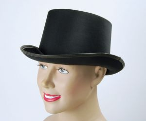 Шляпа Цилиндр Черный сатин