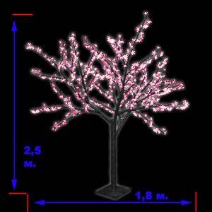 «Японская ива» пушистая, розовая (2,5 м)