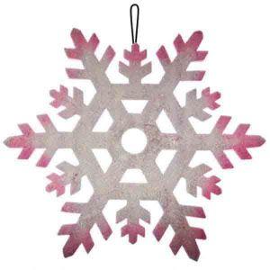 Пенопластовая снежинка  (Ø 23 см.)