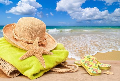 Пляжные коврики, кепки