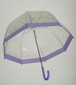 Зонт прозрачный (фиолетовый)