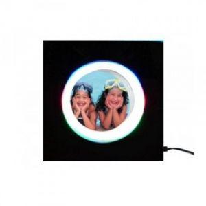Фоторамка , парящая круглая, в квадратном светильнике