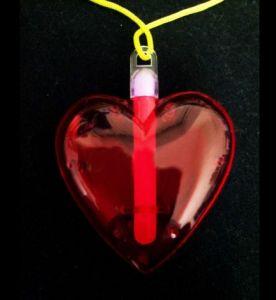 Светящийся Кулон - сердце