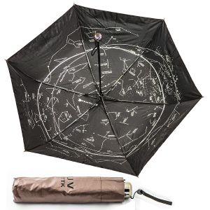 """Зонт """"Звездное небо"""" (коричневый)"""