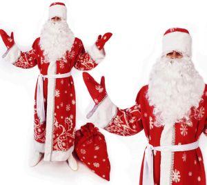 Костюм Деда Мороза снежный