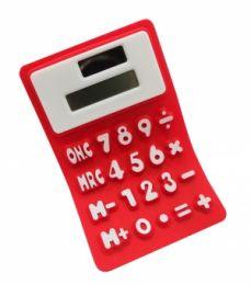 Калькулятор мягкий  красный (можно сворачивать трубочкой)
