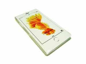 "Блокнот ""Телефон"" белый Цветок"