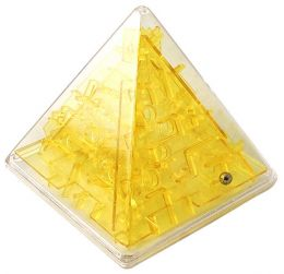 Головоломка Пирамида желтая