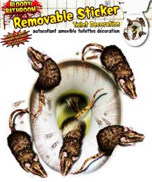 Наклейка Крысы на унитаз