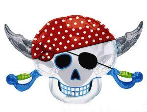"Фигура-шар ""Череп пирата"" (46-71см)"