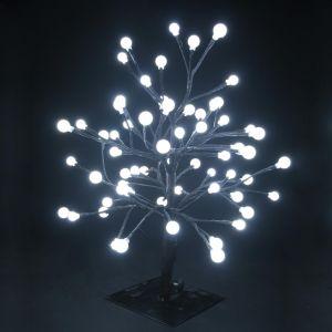 LED-Дерево настольное «Шарики», белое, высота 45см