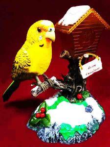 Попугай Merry Christmas (17 см)