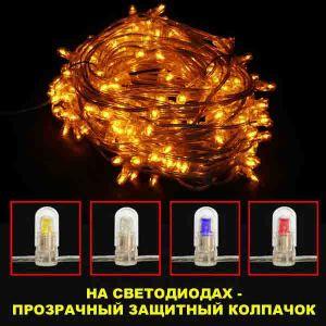 Катушка с желтыми светодиодами (30м)