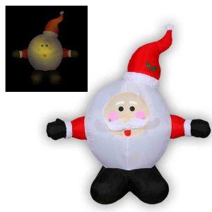 """Надувная фигура """"Дед Мороз-колобок"""""""