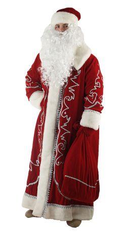 Костюм Деда Мороза Боярский (комплект: Шуба,пояс,мешок,варежки,шапка.)