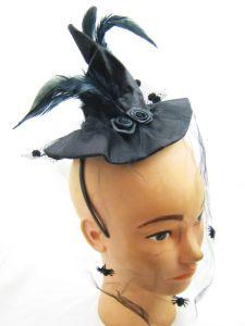 Шляпка Ведьмы с вуалью