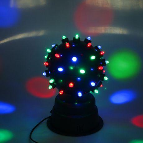 Диско-шар светодиодный со звуковой активацией, диаметр 22 см