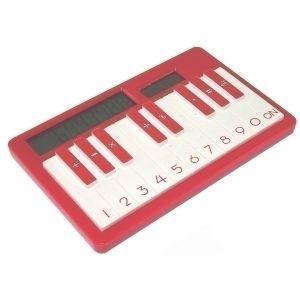 Калькулятор пианино (красный)