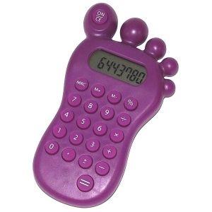 Калькулятор Ступня с головоломкой (фиолетовый)