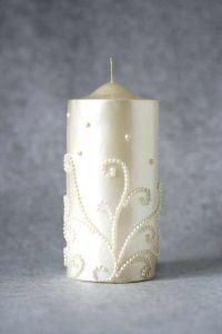 Свеча декоративная №4 (бежевый)