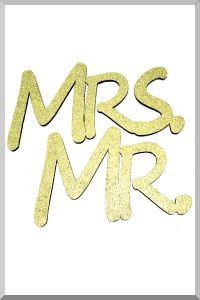 Слова для фотосессий MR и MRS (золотой) (Ш:13 Д:25)