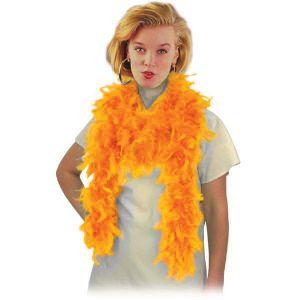 Боа из перьев, оранжевое (длина 180 см.)