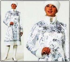 костюм Снегурочки сатин