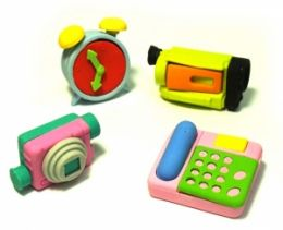 """Набор ластиков """"Часы, камера, телефон"""""""