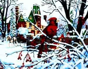 """Набор для рисования по номерам """"Зима"""""""