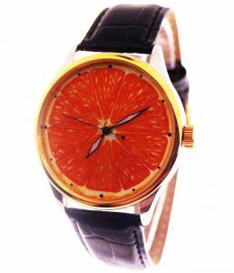 Прикольные наручные часы Апельсин