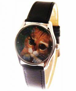 Прикольные наручные часы Кот в сапогах