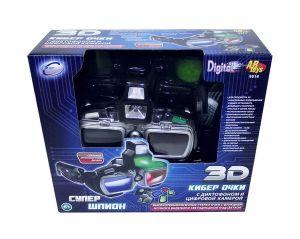 Очки шпионские 3D с камерой и диктофон, эл/мех., пласт.
