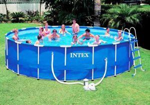 Каркасный бассейн 549х122см + аксессуары, INTEX