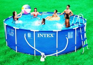Каркасный бассейн 457х122см + аксессуары, INTEX