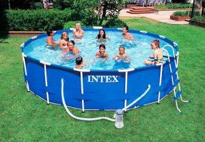 Каркасный бассейн 457х107см + аксессуары, INTEX