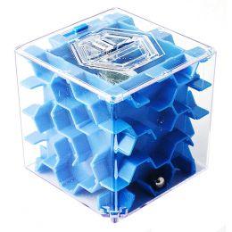 Копилка - головоломка ЛАБИРИНТ (синяя)