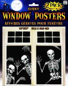 Постер Скелет на окно