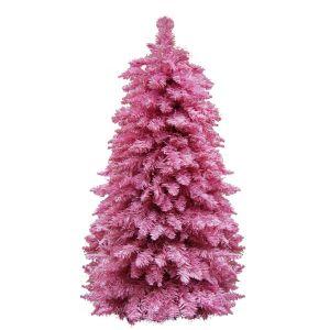 Ель на металлическом каркасе розовая, 95 см