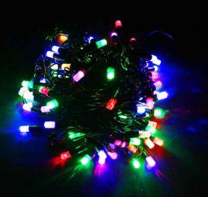 Кристаллы разноцветные мерцающие (90 светодиодов, 8м)