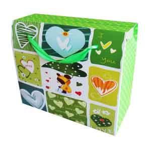 Пакет бумажный зеленый