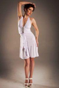 Платье белое с полоской