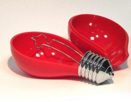 Пепельница в виде лампочки красная