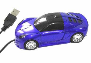 Мышь машина синяя